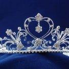 handmade wedding accessories huge silver metal rhinestone sparkle bridal tiara headpiece 810
