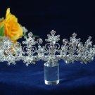 handmade crystal band wedding accessories silver metal rhinestone sparkle bridal tiara regal 1518