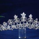 Swarvoski crystal band wedding accessories silver metal rhinestone sparkle bridal tiara regal 1532