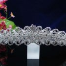 Swarvoski crystal headband,bride wedding hair accessories silver rhinestone bridal tiara 1516