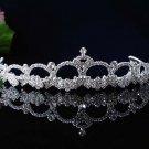 Bride regal wedding tiara hair accessories silver rhinestone bridal tiara 1594