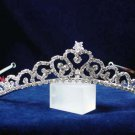 Sweetheart handmade crystal regal wedding accessories silver metal rhinestone bridal tiara 6797