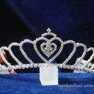 Sweetheart bride bridesmaid wedding hair accessories silver rhinestone bridal tiara cn64