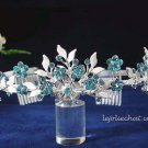 Crystal wedding bride hair accessories,handpaint rhinestone floral alloy bridal tiara 6571b