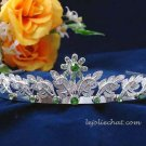 handmade crystal wedding accessories silver metal rhinestone floral alloy bridal tiara 79gr