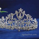 handmade crystal wedding accessories silver metal rhinestone alloy sweetheart bridal tiara 112s