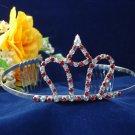 crystal wedding accessories silver metal rhinestone bridal tiara 1289r