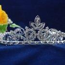 crystal wedding accessories silver metal headband rhinestone bridal tiara 1482
