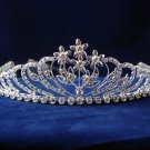 Bride hair accessories,wedding silver floral alloy headpiece rhinestone bridal tiara 5991