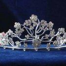 Sparkle crystal wedding accessories silver alloy metal headpiece rhinestone bridal tiara 578