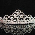 Sparkle crystal wedding accessories handmade silver metal headpiece rhinestone bridal tiara a198