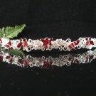Sparkle crystal wedding accessories handmade silver alloy headband rhinestone bridal tiara 696red