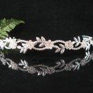 Sparkle crystal wedding accessories handmade silver alloy headband rhinestone bridal tiara 3991s
