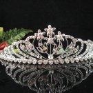Bridal Tiara Comb, Bride Crystal Floral Hair Comb Tiara style, Wedding hair Comb 5991