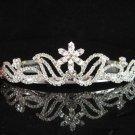 Sparkle crystal wedding accessories handmade silver metal headpiece rhinestone bridal tiara 1870