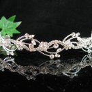 Bride Tiara Bridal Comb, Pearl Crystal Floral Hair Comb Headband, Wedding hair Comb 618