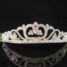 Bridal tiara crystal pearl wedding accessories handmade silver rhinestone headpiece 7108