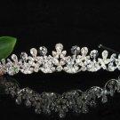 Bridal tiara crystal wedding accessories fancy handmade silver rhinestone headpiece 1172