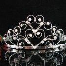 Bridal tiara crystal pearl wedding accessories handmade silver rhinestone headpiece 2039