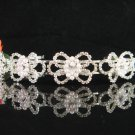 Bridal tiara crystal pearl bride wedding accessories silver rhinestone headband 4456