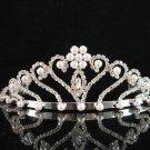 Bridal tiara crystal pearl wedding accessories handmade silver metal rhinestone headpiece 6220