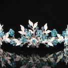 Bridal tiara crystal alloy wedding accessories handmade silver metal rhinestone headpiece 6571B