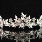 Bridal tiara crystal alloy wedding accessories handmade silver metal rhinestone headpiece 6571