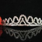 Bridal tiara sparkle crystal wedding accessories handmade silver metal rhinestone headpiece 8260