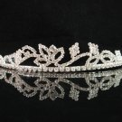 wedding tiara crystal bridal hair accessories handmade silver metal rhinestone headpiece 8510