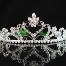 Bridesmaid tiara crystal bridal hair accessories handmade silver metal rhinestone headpiece 8740