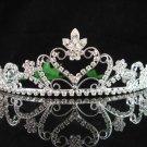 wedding tiara crystal bridal hair accessories handmade silver metal rhinestone headpiece 8740