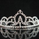 wedding tiara crystal bridal hair accessories bridesmaid silver metal rhinestone headpiece 8987