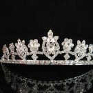 wedding tiara crystal bridal hair accessories handmade silver metal rhinestone headpiece 9003