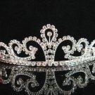 wedding tiara crystal bridal hair accessories handmade silver metal rhinestone headpiece 9008
