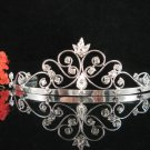 Bridesmaid tiara crystal bride hair accessories wedding silver metal rhinestone headpiece 9190