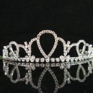 wedding tiara crystal bride hair accessories bridesmaid silver metal rhinestone headpiece 9309
