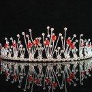 wedding tiara crystal bridal hair accessories handmade silver metal rhinestone headpiece 9860r