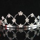 Tiara Bridal Comb, Pearl Crystal Floral Hair Comb Tiara style, Wedding hair Comb 10708