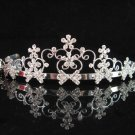 wedding tiara crystal bridal hair accessories handmade silver daisy metal rhinestone headpiece 10719