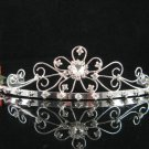 wedding tiara crystal bridal hair accessories handmade silver daisy metal rhinestone headpiece A65