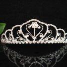 wedding tiara crystal bridal hair accessories handmade silver daisy metal rhinestone headpiece A171S