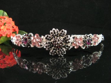 wedding tiara crystal bridal hair accessories handmade silver rhinestone metal alloy headband702