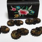 5 pair Handmade chinese frog fasten closure button garment accessories floral knob cf05bg