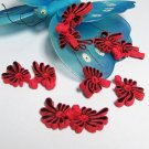 5 pair Handmade chinese frog fasten closure button garment accessories floral knob cf07rbk