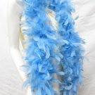 """48g 70"""" blue fuzzy chandelle feather boa for dancer , decoration ,party, wedding F50B"""