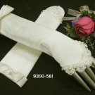 "10.5"" Satin Pearl Elbow ivory Wedding Gloves,French lace Fingerless bridal Gloves 58i"
