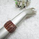 Sparkling Stretch Rhinestone Prom Wedding Pageant Bridal Cone Bracelet woman jewelry cb4