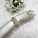 Sparkling Stretch Rhinestone Prom Wedding Pageant Bridal Bracelet cone woman jewelry cb11