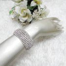 Sparkling Stretch Rhinestone Prom Wedding Pageant Bridal Bracelet Cone woman accessories cb12