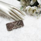Sparkling Stretch Rhinestone Pattern Wedding Pageant Bridal Bracelet woman accessories JT15